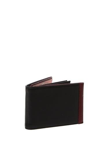 Hi5 Hi5 10,5 X 8,5 Cm Sıralı Kartlık Bölmeli Kağıt Para Hazneli Detaylı Erkek Cüzdan Siyah